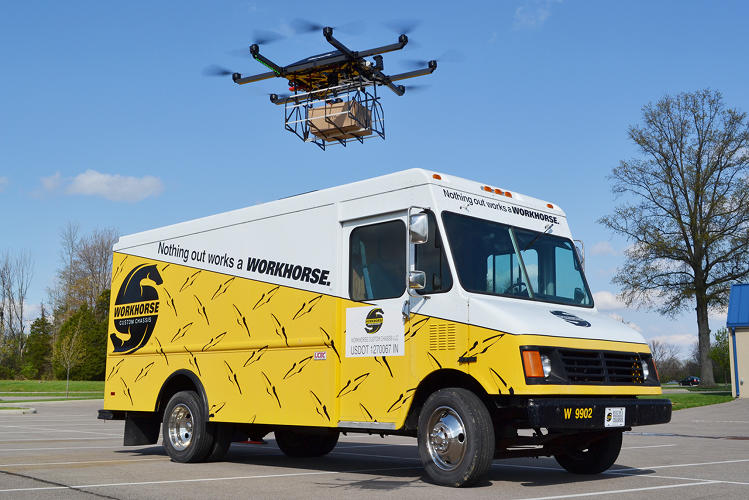 <p>Each of Workhorse's test trucks is equipped with a special drone launcher.</p>