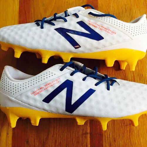 <p>New Balance 3D Printed football cleats</p>