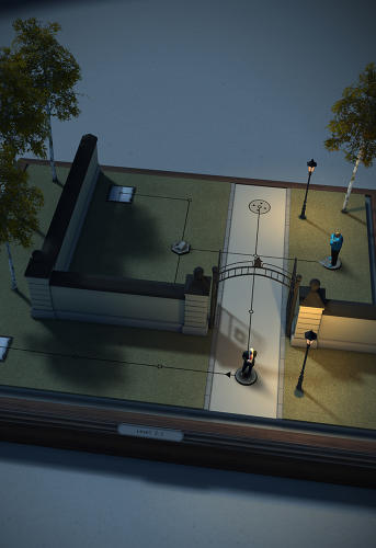 <p>A still from <em>Hitman GO</em> by Square Enix</p>