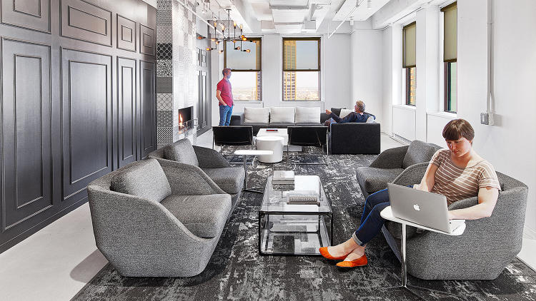 <p><strong><a href=&quot;http://www.fastcodesign.com/3045998/inside-linkedins-playful-new-digs&quot; target=&quot;_self&quot;>LinkedIn's Playful New York Digs by IA Interior Architects</a></strong><br /> Located in the Empire State Building, the office was designed around social-business club concept—a nod to LinkedIn's mission as a professional networking site. It features a 1920s speakeasy-style lounge, a room festooned with old-school rotary phones, cafe, and billiards room. &quot;It's moving away from that slide-firepole-manhole cover-filled office design into a more mature and sophisticated approach,&quot; John Capobianco, design director for the project, says.</p>