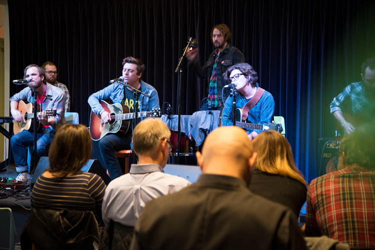 <p>The Wild Feathers perform their country infused rock at Spotify's New York HQ.</p>