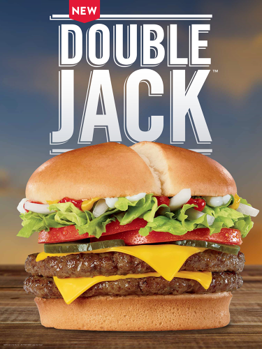 <p>The Double Jack, a heftier burger featuring the chain's revamped core ingredients, is the flagship item for the menu overhaul.</p>
