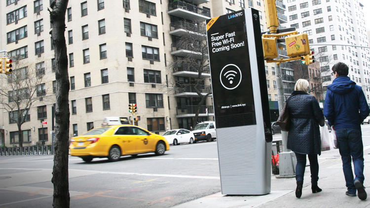<p>The city Link stations are kiosks that will replace old payphones with free one gigabit wi-fi.</p>