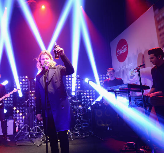 "<p>Australia-raised singer <strong>Conrad Sewell</strong> was in Paris today to launch the new anthem for Coca-Cola, ""Taste the Feeling'</p>"