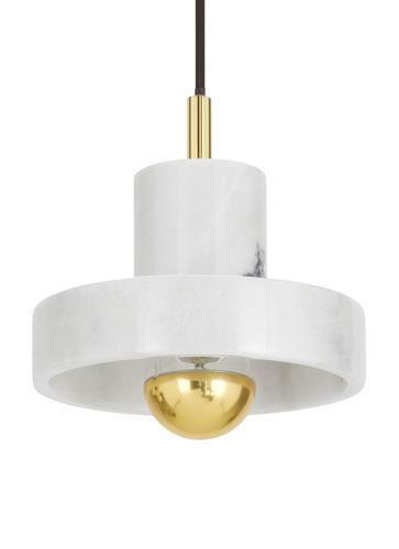 <p>Dixon used marble for <a href=&quot;http://www.tomdixon.net/us/stone-pestle-and-mortar-1.html&quot; target=&quot;_blank&quot;>household accessories</a> in the past and now used the material for the Stone line of lighting, which is new for 2016.</p>