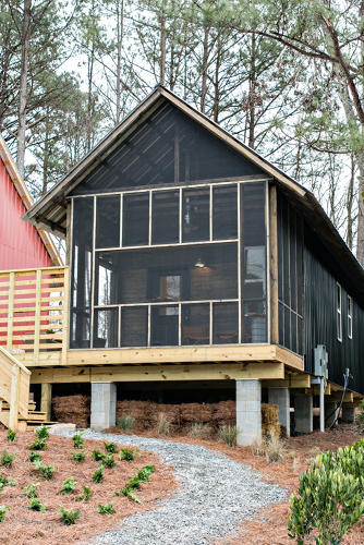 <p>Partnering with a commercial developer outside Atlanta, they built two one-bedroom houses.</p>
