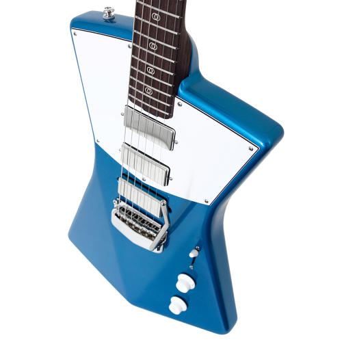 <p>The St. Vincent guitar was designed from scratch, mixing 1980s German synth-pop aesthetics with American muscle-car colors.</p>