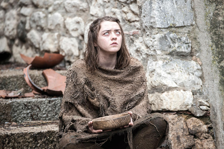 <p>Arya Stark (<strong>Maisie Williams</strong>) was left blinded at the end of Season Five - things don't seem to have improved for her.</p>