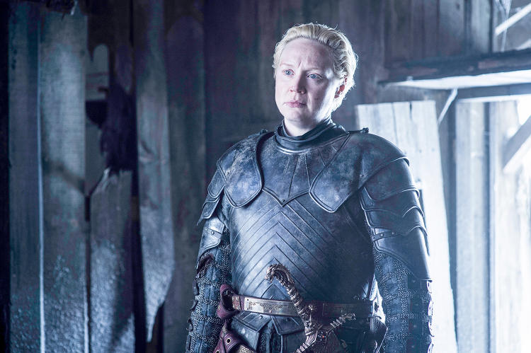 <p>Fresh from her quick exit from <em>Star Wars: The Force Awakens</em>, <strong>Gwendoline Christie</strong> returns as badass warrior Brienne of Tarth.</p>