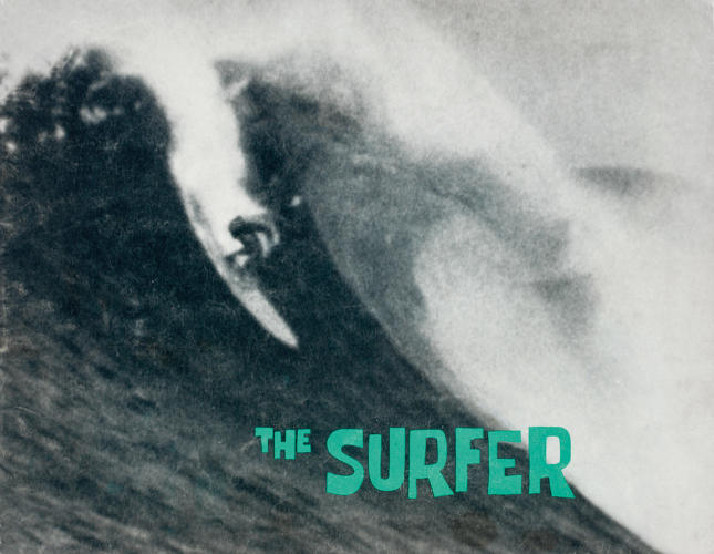 <p>Magazine cover; The Surfer, 1960</p>