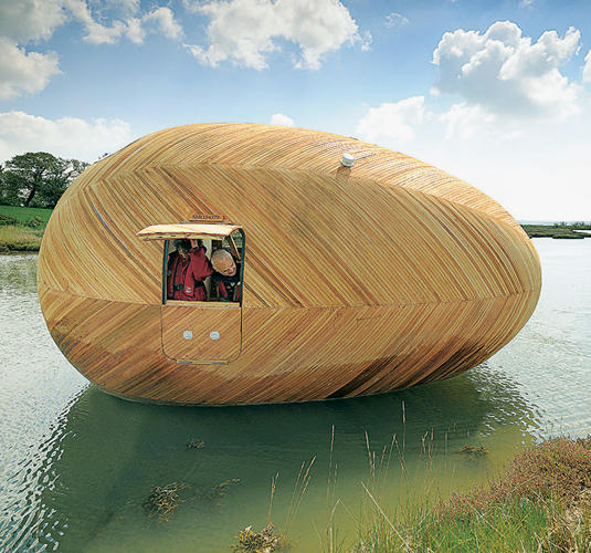 <p>Exbury Egg tiny house, PAD Studio and Stephen Turner; Exbury, England.</p>