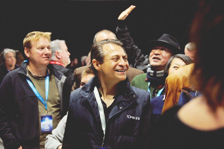 <p>X Prize head Peter Diamandis, at the celebration.</p>