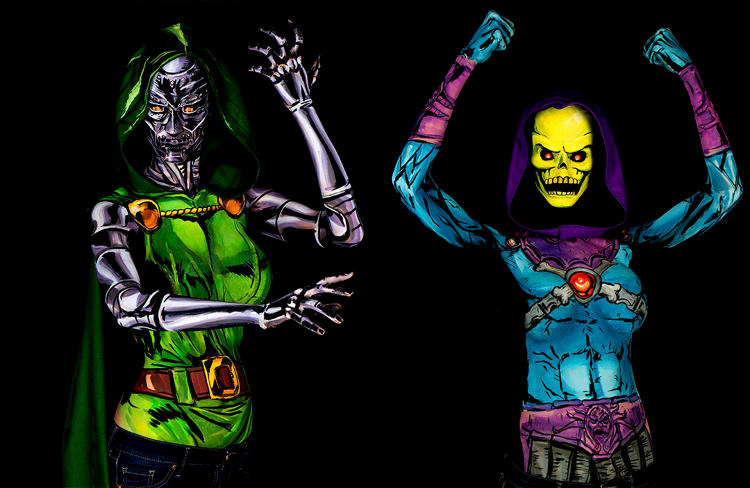 <p>...as Marvel's Dr. Doom and Skeletor from <em>He-Man and the Masters of the Universe</em></p>