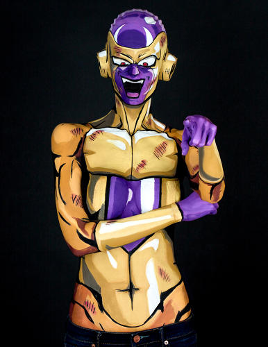 <p>...as alien overlord Frieza from the anime series <em>Dragon Ball</em></p>