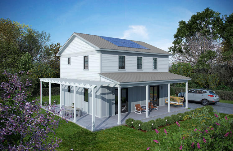 <p>Each is designed to cut out two-thirds of the energy used in a typical house of the same size.</p>