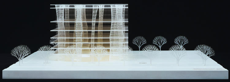 <p>Toyo Ito &amp; Associates, Architects. Sendai Mediatheque, Miyagi, Japan. 1995–2001. Model: acrylic, 10 5/8 x 31 1/2 x 29 1/8″ (27 x 80 x 74 cm). The Museum of Modern Art, New York. Gift of the architect in honor of Philip Johnson.</p>