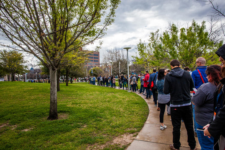 <p><strong>SXSWi 2016:</strong> Line of people outside the event on 3/11/2016 in Austin, Texas</p>