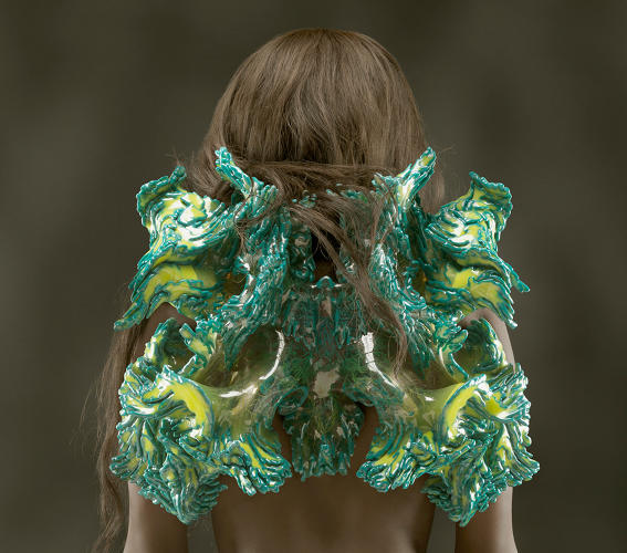 <p>Otaared, from Wanderers collection, 2014. Designed by Neri Oxman (Israeli-American, b. 1976) and Mediated Matter, MIT Media Lab in collaboration with Stratasys, Ltd. Produced by Stratasys, Ltd. Multi-material 3D print.</p>