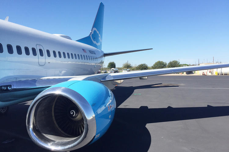 <p>The radome atop Gogo's 737 is the main new component of the company's new in-flight Wi-Fi service, which should allow passengers to stream movies on sites like Netflix and HBO.</p>