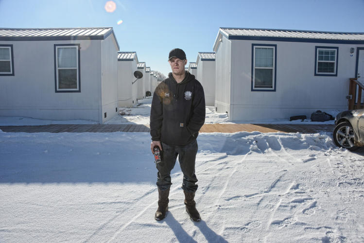 <p>Portable housing units in Tioga, ND.</p>
