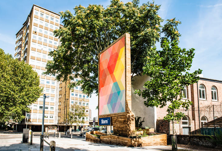 <p>A new project in London shows how billboards can double as public infrastructure.</p>