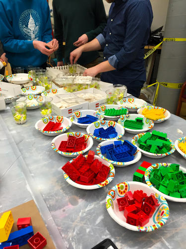 <p>Meanwhile, UIC School of Architecture ditched the ivory pieces for chunky Lego Duplo, chopped and reassembled into a sporadic pile in <em>Lego 601</em>.</p>