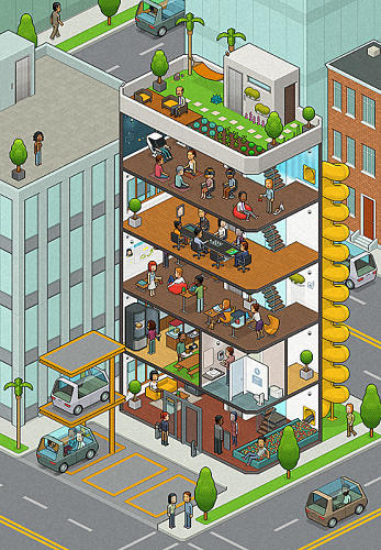 <p>Welcome to the office of the future.</p>