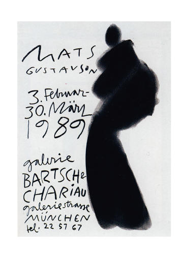 <p>This 1989 poster by Mats Gustavson is an example of a handwriting font.</p>