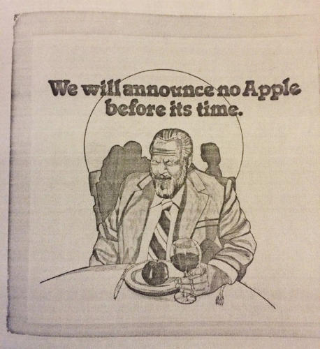 <p>A page from the Mac business plan riffing on the famous wine ads starring Orson Welles.</p>