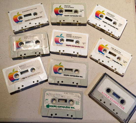 <p>Once upon a time, Apple software came on cassette tapes.</p>