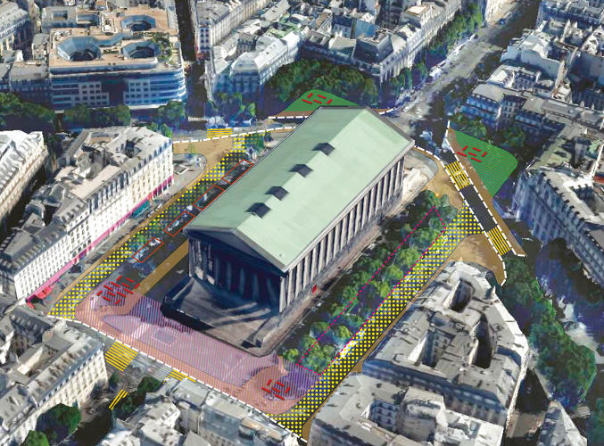 <p>At the Place de la Bastille, the square will reconnect with a curb on one side, creating a new green space for people to sit.</p>