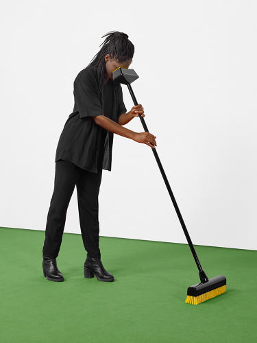 <p>ECAL/Erika Marthins &amp; Hélène Portier<br /> Brooms designed to be handled from a particular angle. Controlling them unveils a universe of staggering proportions.</p>