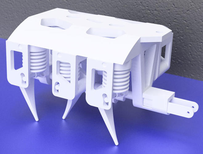 <p>Currently, the robot takes 22 hours to print, although better, higher-resolution printers could speed this up.</p>