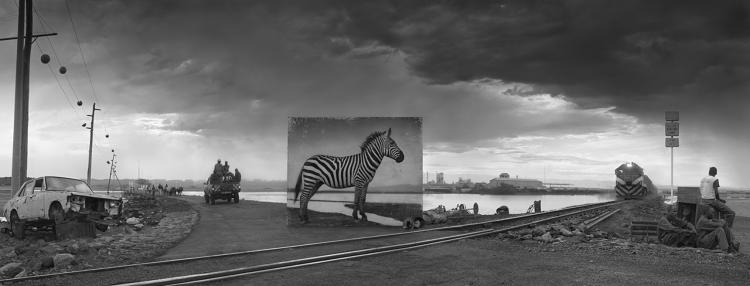 <p><em>Road to Factory with Zebra</em>, 2014</p>