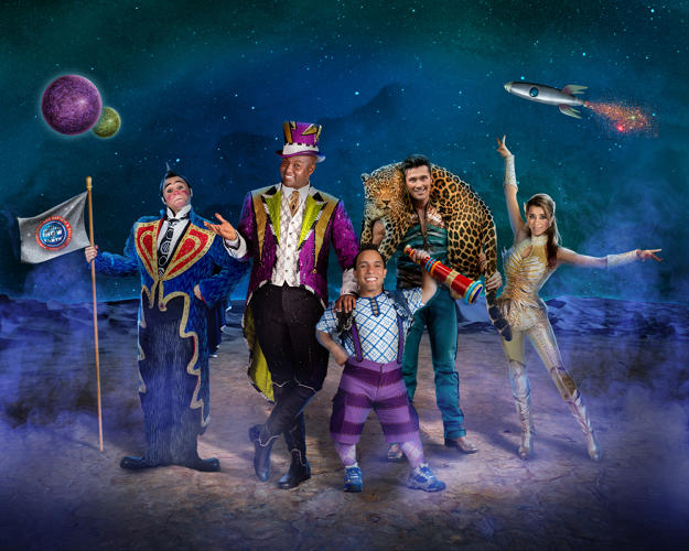 "<p>The cast of Ringling Bros. and Barnum &amp; Bailey Circus' upcoming show ""Out of This World"": (from left) Davis Vassallo, Johnathan Lee Iverson, Paulo dos Santos, Alexander Lacey, and Tatiana Tchalabaev.</p>"