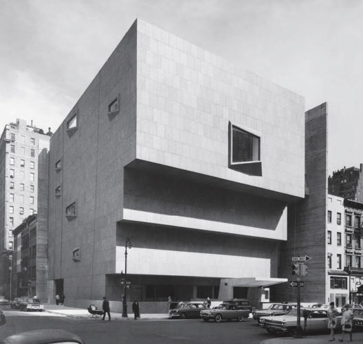 <p>Whitney Museum of American Art, New York, New York, USA, 1966 by Marcel Breuer and Associates</p>