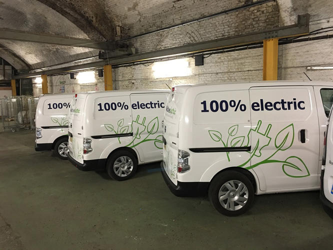 <p>Another is to consolidate deliveries: Why does each company have to send its own van on the same street, when one company can make the same trip?</p>