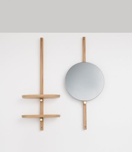 <p>Doverail shelf mirror by Hallgeir Homstvedt</p>
