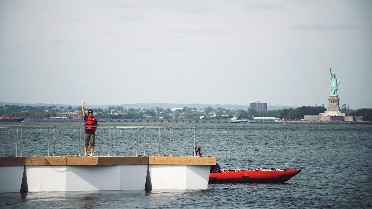<p>Engineers are currently designing a modular system with floating sections of bridge that connect to anchorage platforms.</p>