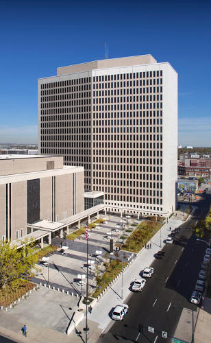 <p>Byron Rogers Federal Building and U.S. Courthouse.  Fitwel: two-star rated. (Architect: HOK and Bennett Wagner &amp; Grody Architects)</p>