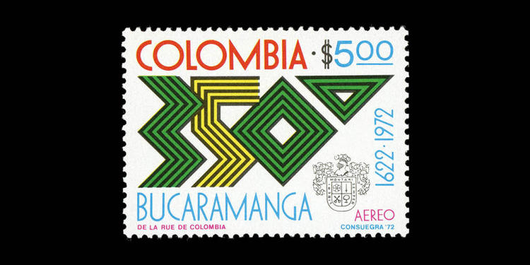 <p>Colombia, 1972; 350th Anniversary of Bucaramanga City. Designed by David Consuegra.</p>