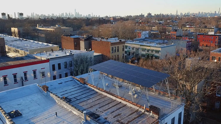 <p>Solar power is now cheaper than getting electricity from the grid in NYC. But most New Yorkers don't have the room to put solar on their roof.</p>