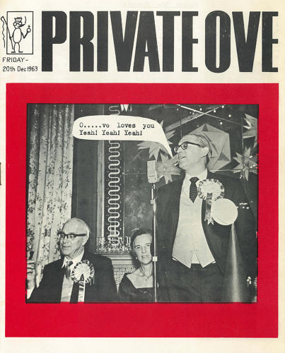 <p>'Private Ove' Ove Arup and Partners Christmas Party Pamphlet. 1963.</p>