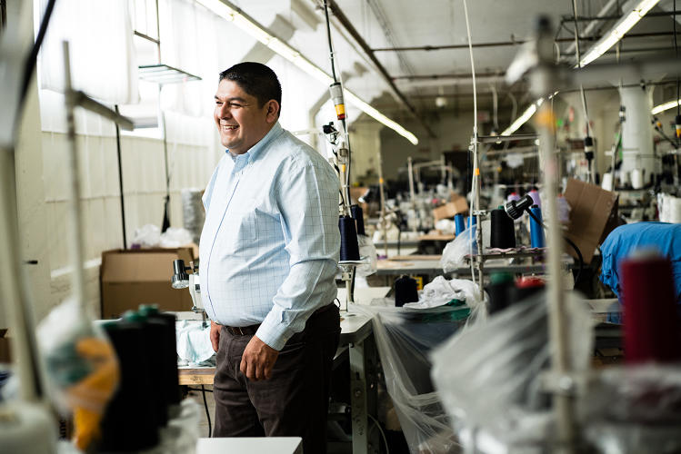 <p>Director of engineering <strong>Gustavo Alvarado</strong> joined American Apparel earlier this year to help lead and streamline manufacturing processes in the factory.</p>