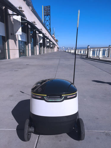 <p>The 'bot has already undergone technical trials, but now it will be delivering packages to real customers in real cities.</p>