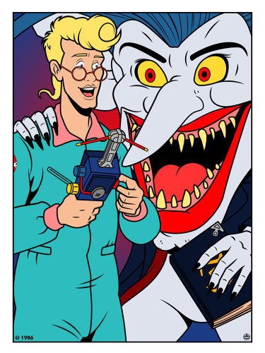 <p><em>The Real Ghostbusters'</em> Egon Spengler and The Boogieman</p>