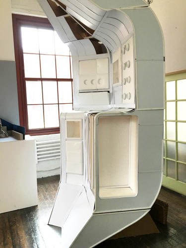 <p>Pratt students designed a transit habitat to Mars that divides into two inflatable pods. Their work is up at the Intrepid Sea, Air &amp; Space Museum.</p>