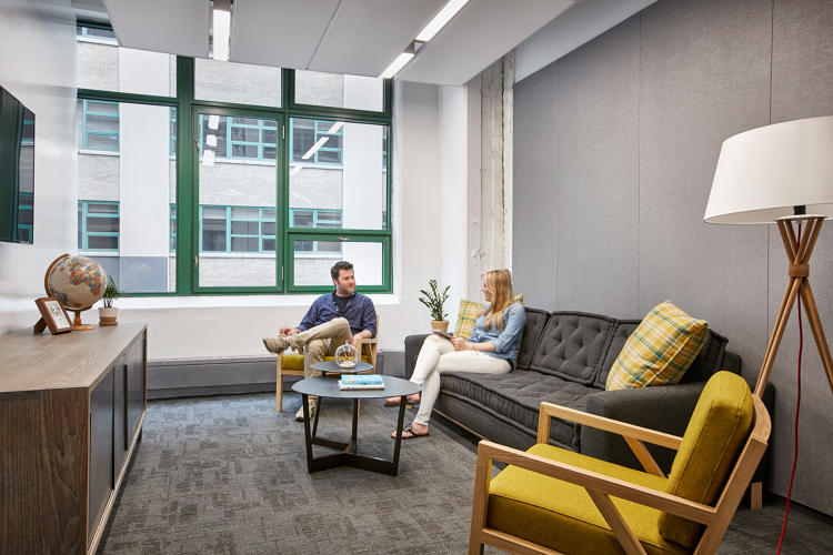 <p>Etsy and Gensler sourced green products and furniture for the office to achieve Living Building Petal certification.</p>