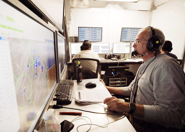 <p><strong>Martin Gomez</strong>, head of aeronautical platforms, in the engineering station.</p>