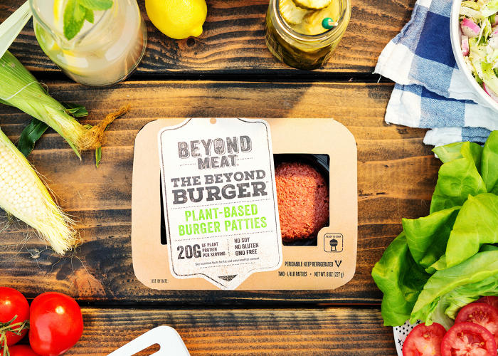 <p>Beyond Meat's plant burgers are available at select Whole Foods; a pack of two uncooked patties retails for $5.99.</p>